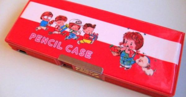 Vintage 80 S Magnetic Double Sided Pencil Case By