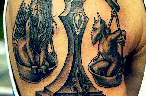 libra scale tattoo on a man 39 s arm tatoos pinterest. Black Bedroom Furniture Sets. Home Design Ideas