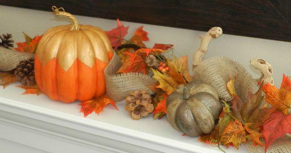 Adorable painted pumpkin