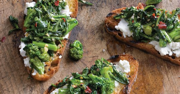 Spicy Broccoli Rabe Bruschetta- Williams Sonoma