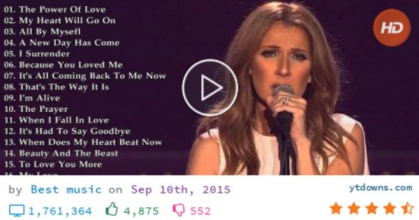 celine dion albums free download mp3