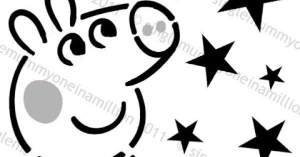 Peppa Pig Pumpkin Stencil