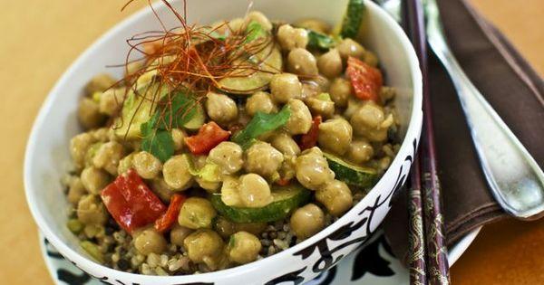Vegan Recipes: Thai Chickpea Almond Curry, Tempeh Tickle, Whole-Grain Chia Pancakes