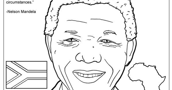 nelson mandela coloring page stormfront its nelson mandela day 7181918 pinterest nelson mandela og malebger