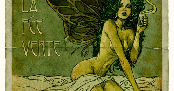 The Absinthe Fairy by Alphons Mucha