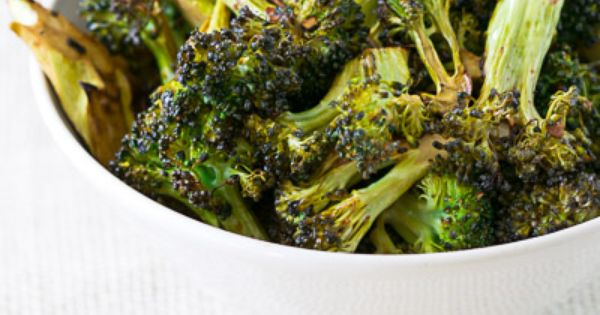 garlic roasted broccoli with balsamic vinaigrette including brown sugar
