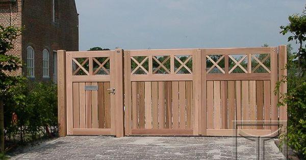 Houten poort model 18.10A uitgevoerd in western red ceder. Dubbele ...