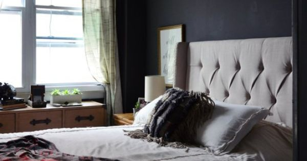 Goth glamour 10 stylish black bedrooms more black for Bedroom inspiration apartment therapy