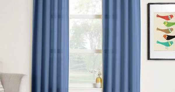 Charlton Home Cy Solid Sheer Rod Pocket Single Curtain Panel