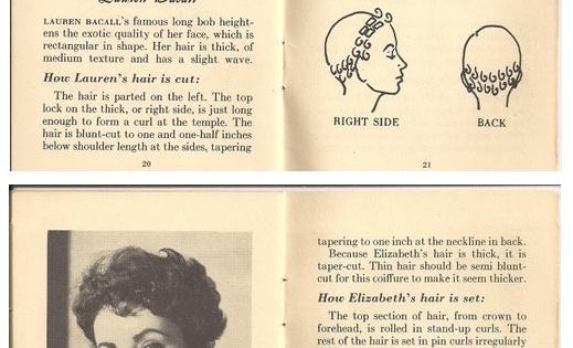 hair style glam movie star looks vintage 40s 50s book ...