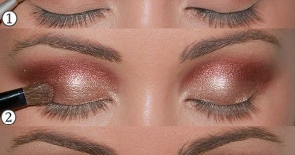 copper eye shadow.