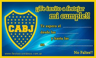 Boca Juniors Tarjetas De Cumpleaños Para Imprimir
