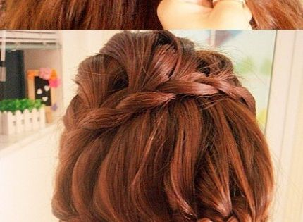 Braided updo. one day when i have long hair...