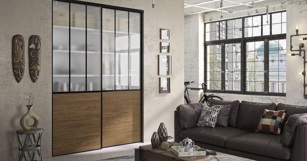 Porte De Placard Atelier Noyer Brun Home Home Decor Room Divider