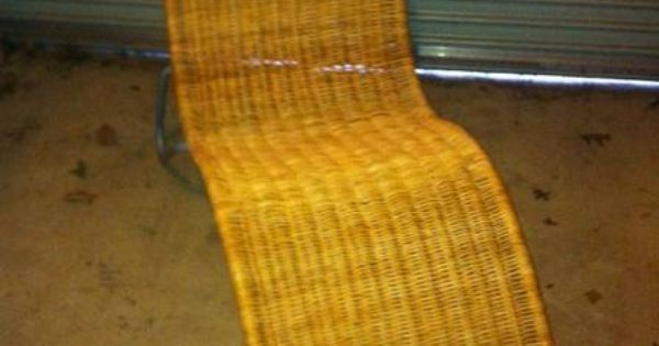 Ikea wicker chaise lounge on gumtree for the home for Chaise longue rattan ikea