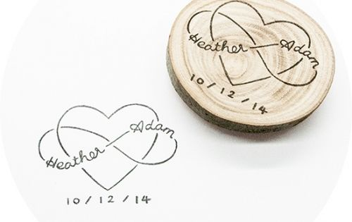 Infinity Love, custom wedding stamp hand-carved in Stockholm, Sweden. This is perfect
