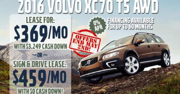 Lease A 2016 Xc70 T5 Awd From Kline Volvo Of Maplewood Offer