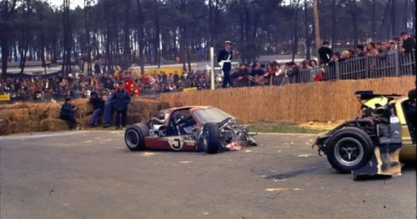 Lemans 1967 Ford Gt40 Mkiv The Aftermath Of Mario Andretti S
