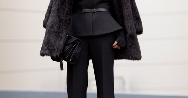 An edgy take on basic black – Fall/Winter 2012 Street Style