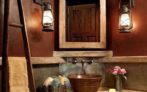Inexpensive Bathroom Decorating Ideas: 42 Rustic Bathroom Ideas You Will Love!