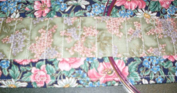 Circular Knitting Fabric : Fabric holder for circular knitting needles