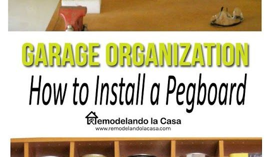 garage organization how to install a pegboard as pegboard organization and garage diy. Black Bedroom Furniture Sets. Home Design Ideas