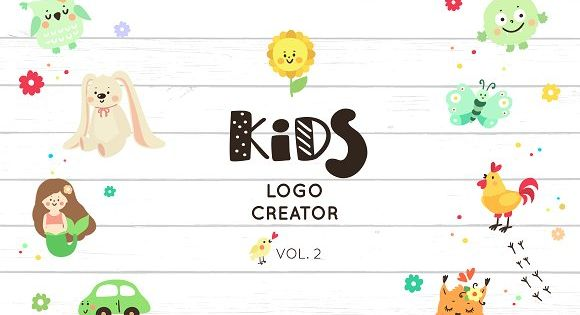 Logo creator for kids (vol.2) – best for Kids School Logo