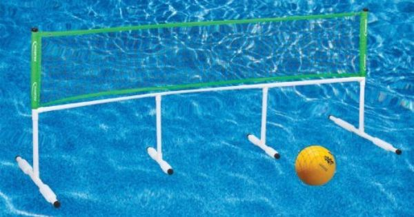 Halex Splash Power Volleyball And Badminton Set By Halex Http Www Amazon Com Dp B003p2vzy0 Ref Cm Sw Badminton Set Pool Party Games Fun Pool Games