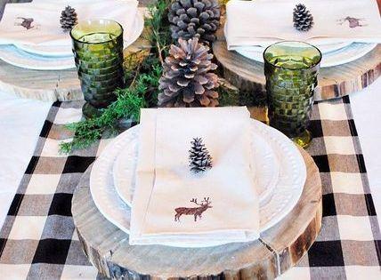 rustikale tischdekoration f r die winterhochzeit mit. Black Bedroom Furniture Sets. Home Design Ideas