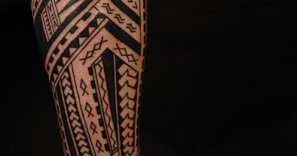 Calf Tattoo Designs For Men Polynesian Tribal Tattoos Tattoo Ideas Pictures Polynesian Forearm