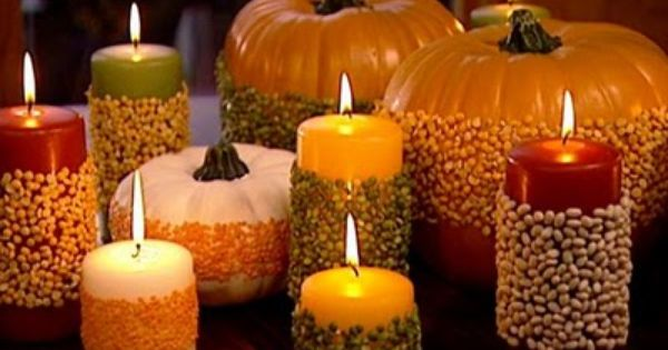 Fall Candles home candles autumn fall decorate halloween thanksgiving decorations pumpkins