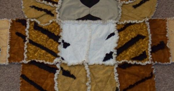 Tiger rag quilt so adorable things to have my mommy for Simplicity craft pattern 4993