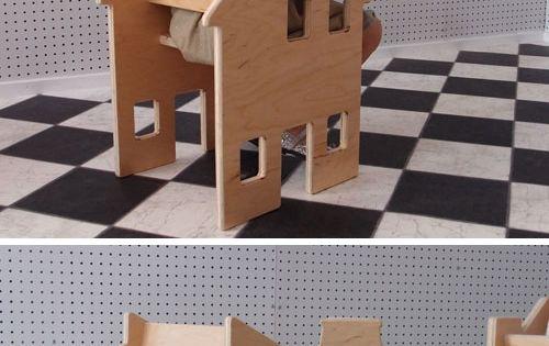 Neighborhood Chair Collection by Paloma's Nest | Half chair, half dollhouse |