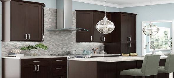 Rta Espresso Shaker Stylish Kitchen Cabinets Assembled Kitchen Cabinets Espresso Kitchen Cabinets Home Renovation