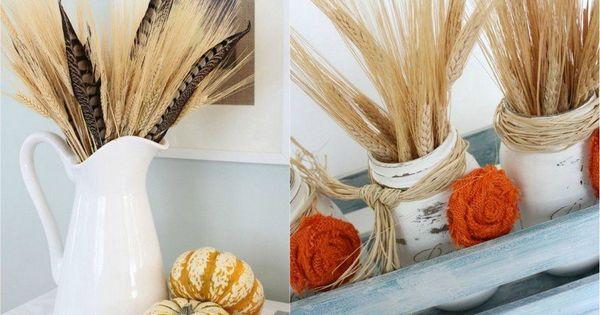 Décoration automne pour l'Action de grâce en épis de blé  Deco ...