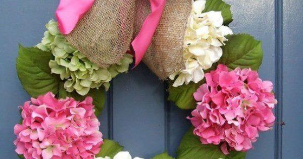 Hydrangea Spring Wreath . I may found my wreath for the front