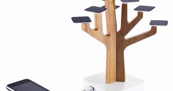 Solar Suntree by XDDesign - captures sun's energy to charge your cell