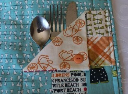 Placemats With Silverware Pockets Sewing Pinterest