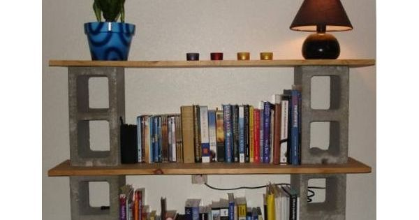 How Build Bookshelf Out Cinder Blocks And Boards Block Shelves