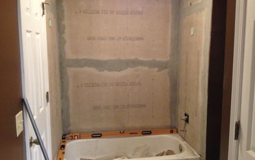 Retiling The Shower Bathroom Pinterest Basement Bathroom Water Damage And Basements