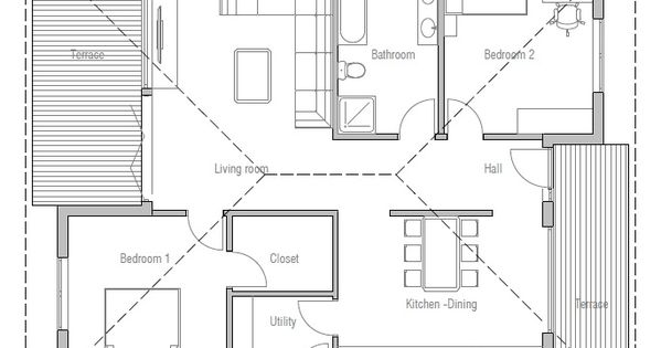 Very Simple House Plan Open Planning Modern Architecture