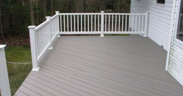 Azek building products slate grey vinyl deck flooring and for Vinyl decking material