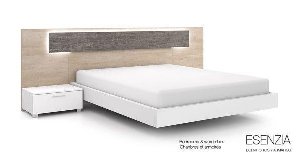 El cabecero de cama modena incorpora leds opcionales que - Iluminacion dormitorios modernos ...