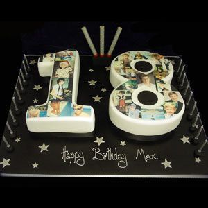 18th Birthday Cakes Number Google Search With Images Boys