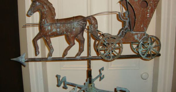 Vintage Amish Horse And Buggy Copper Weathervane Directionals Horse And Buggy My Home Design Vintage Copper