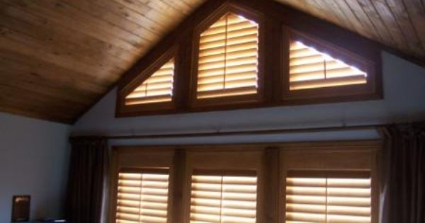 Angled Shutters Work Great For All Types Of Different Shaped