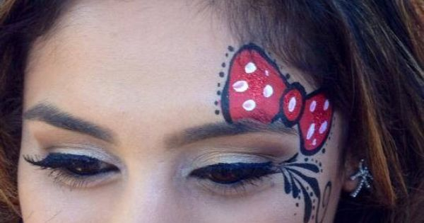 minnie mouse face painting nails pinterest disney. Black Bedroom Furniture Sets. Home Design Ideas