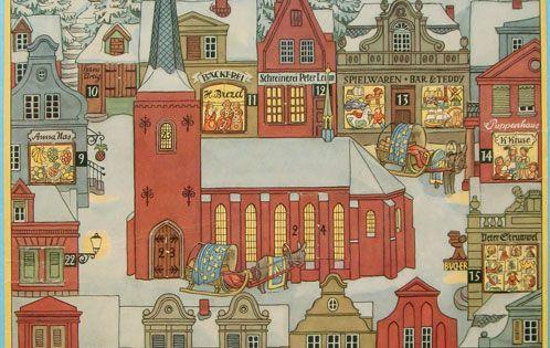 antike ornamente papier und glasgespinst advent karten. Black Bedroom Furniture Sets. Home Design Ideas
