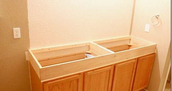 Adding 6 Of Height To Stock Cabinets In The Bathroom Clever Using Pocket Hole Screw To