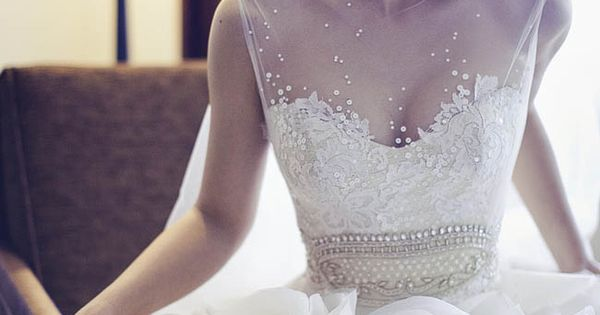 Sophisticated wedding gown for a sophisticated bride.